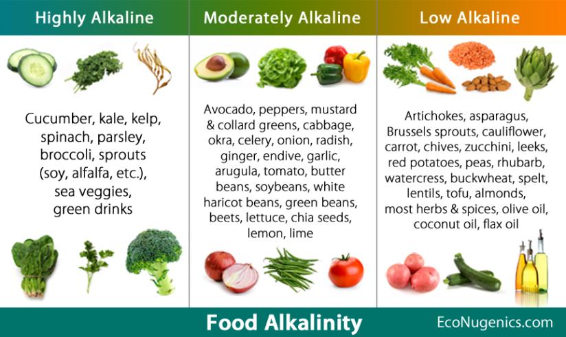 Acid & Alkaline pH Quick Reference FoodChart