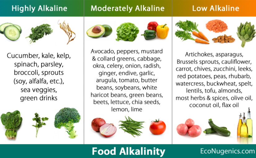 Acid & Alkaline pH Quick Reference Food Chart