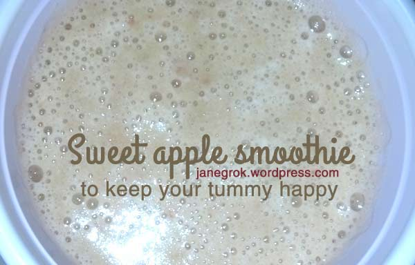 Sweet Apple Smoothie for digestive health maintenance…