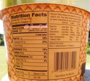 Blue Bell Ice Cream Ice Cream Cone Ingredients Nutrition Facts